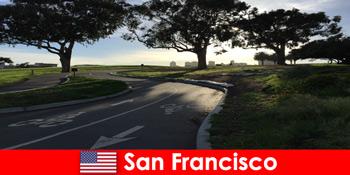 Екскурсія для іноземців на велосипеді в Сан-Франциско США