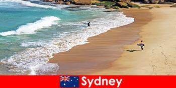 Серфінг туристів користуються кінцевою удар в Сіднеї Австралії