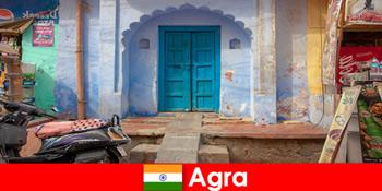 Поїздка за кордон в Агра Індія в сільському житті села