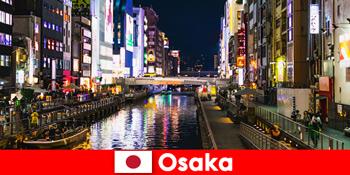 Розважальні райони та делікатеси чекають іноземних мандрівників в Осаці Японія